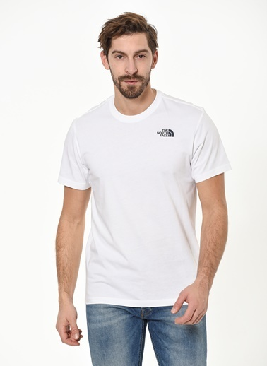 The North Face Redbox Celebration Tee Erkek T-Shirt Beyaz/Lacivert Beyaz